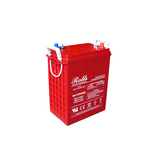 Surrette Rolls 370Ah 6 Volt AGM Battery, (S6-370AGM-RE 6 Volt)