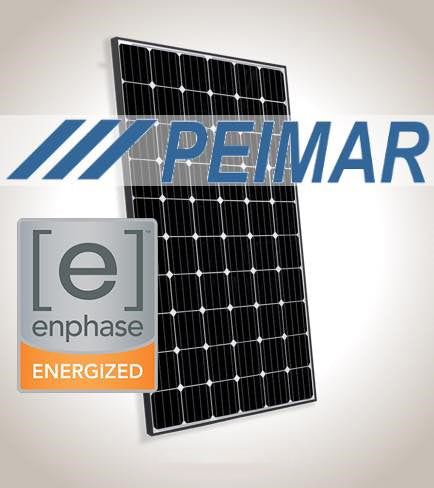 1.3 kW Solar Kit, Peimar 330P XL, Enphase Inverter