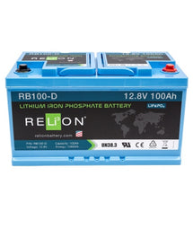 12V 100-D LIFEPO4 BATTERY, M8 Terminal Type