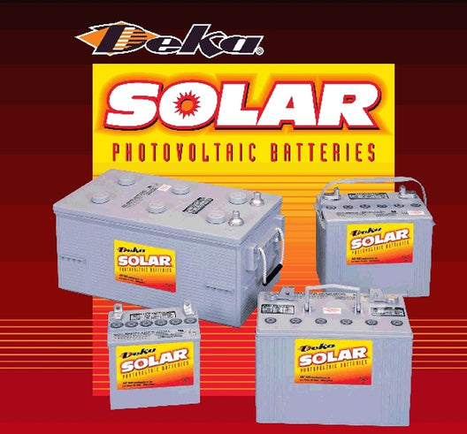 DEKA Solar 12V 32Ah Valve-Regulated Deep-Cycle Gel Battery (8GU1H-DEKA)