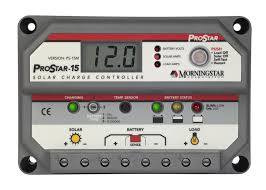 Morningstar Prostar 15Amp PS-15M, Charge Controller 12/24 Volt (With Meter)