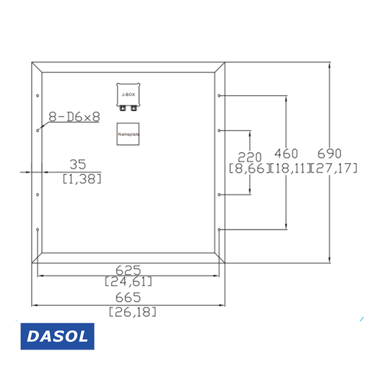 DASOL 60W Poly Solar Panel (DS-A18-60)