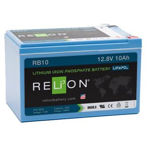 12 Volt 10 Amp Hour Lithium Battery, F2 Terminal Type