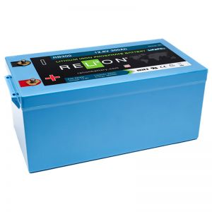 12V 300-AH LIFEPO4 BATTERY, M8 Terminal Type