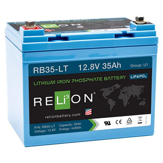 RELION, RB35-LT, COLD WEATHER LITHIUM BATTERIES, 12V 35AH LIFEPO4 BATTERY