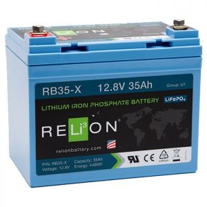 Relion RB35-X Lithium Ion LiFePO4 Battery 12V 35Ah