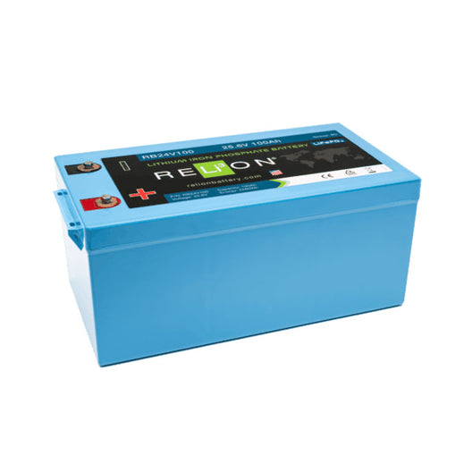 Relion RB24V100 Lithium Ion LiFePO4 Battery 24V 100Ah