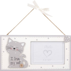I Love My Cat Photo Frame Littlewhiskers