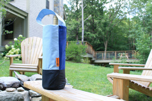 ReFleece Wine Totes are made from upcycled Patagonia rain jackets.