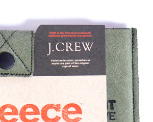 ReFleece for JCrew packaging