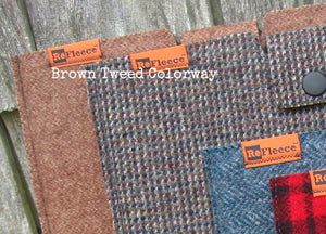 Woolen iPad Sleeve - Brown Tweed
