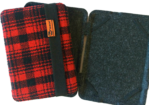 Small E-Reader Case for Kindle or Kobo - LIMITED: RED PLAID