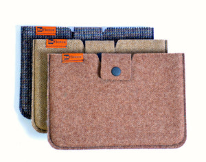 Woolen Mini Tablet Sleeve - Brown Tweed