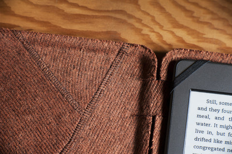 Small E-Reader Case for Kindle or Kobo - Chocolate Brown