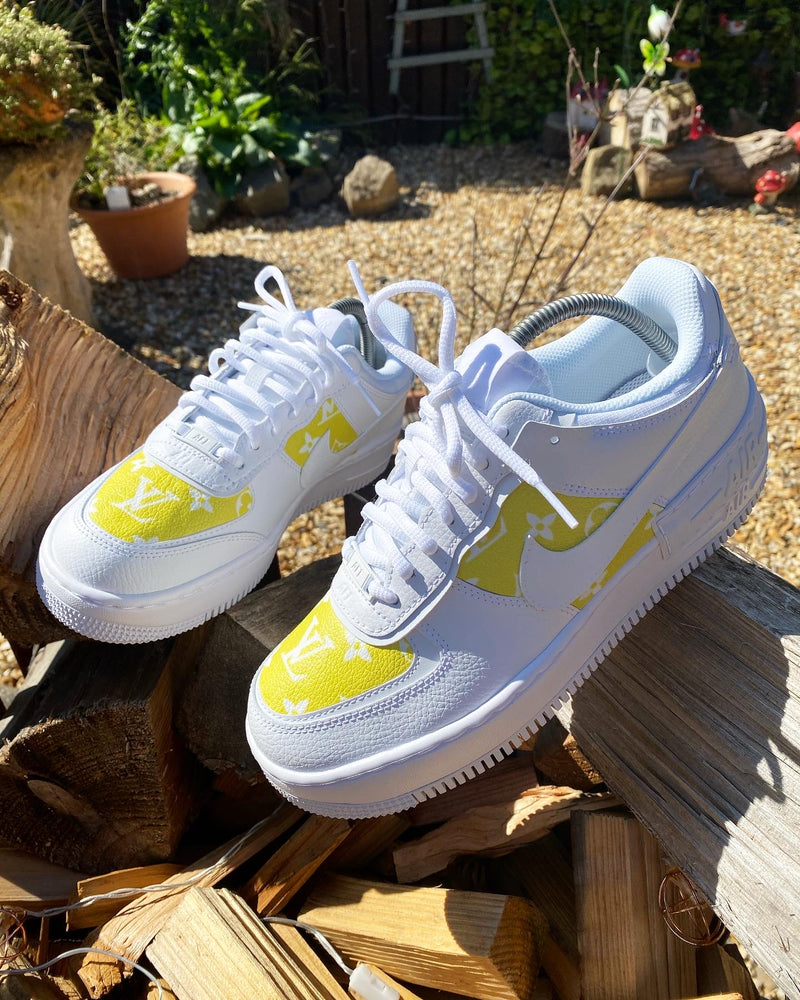 Yellow/White Monogram Air Force 1 Shadow