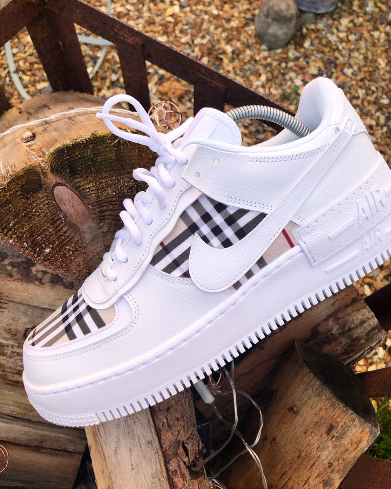 White Burberry AF1 Shadow