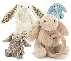 JELLYCAT EMBROIDERED BUNNIES