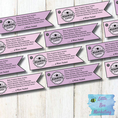 Custom Made Single Sided Swing Tags - Clothing Product Labels