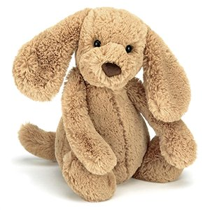 Medium Jellycat Bashful bunny with name embroidered on ear
