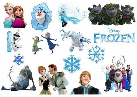 Frozen Removable reposition-able wall decal Pack