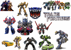 Transformers Removable reposition-able wall decal Pack