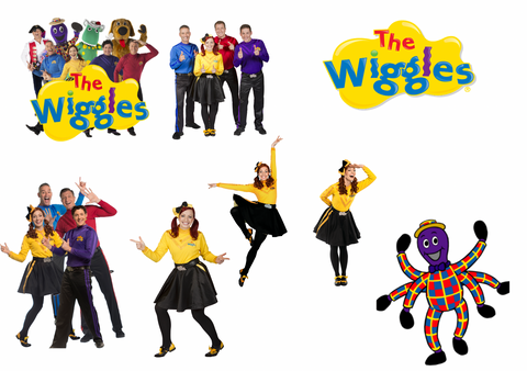 Wiggles Removable reposition-able wall decal Pack