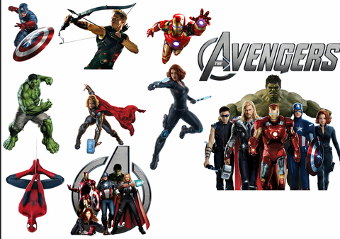 Avengers Removable reposition-able wall decal Pack