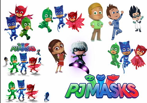 PjMask  Removable reposition-able wall decal Pack