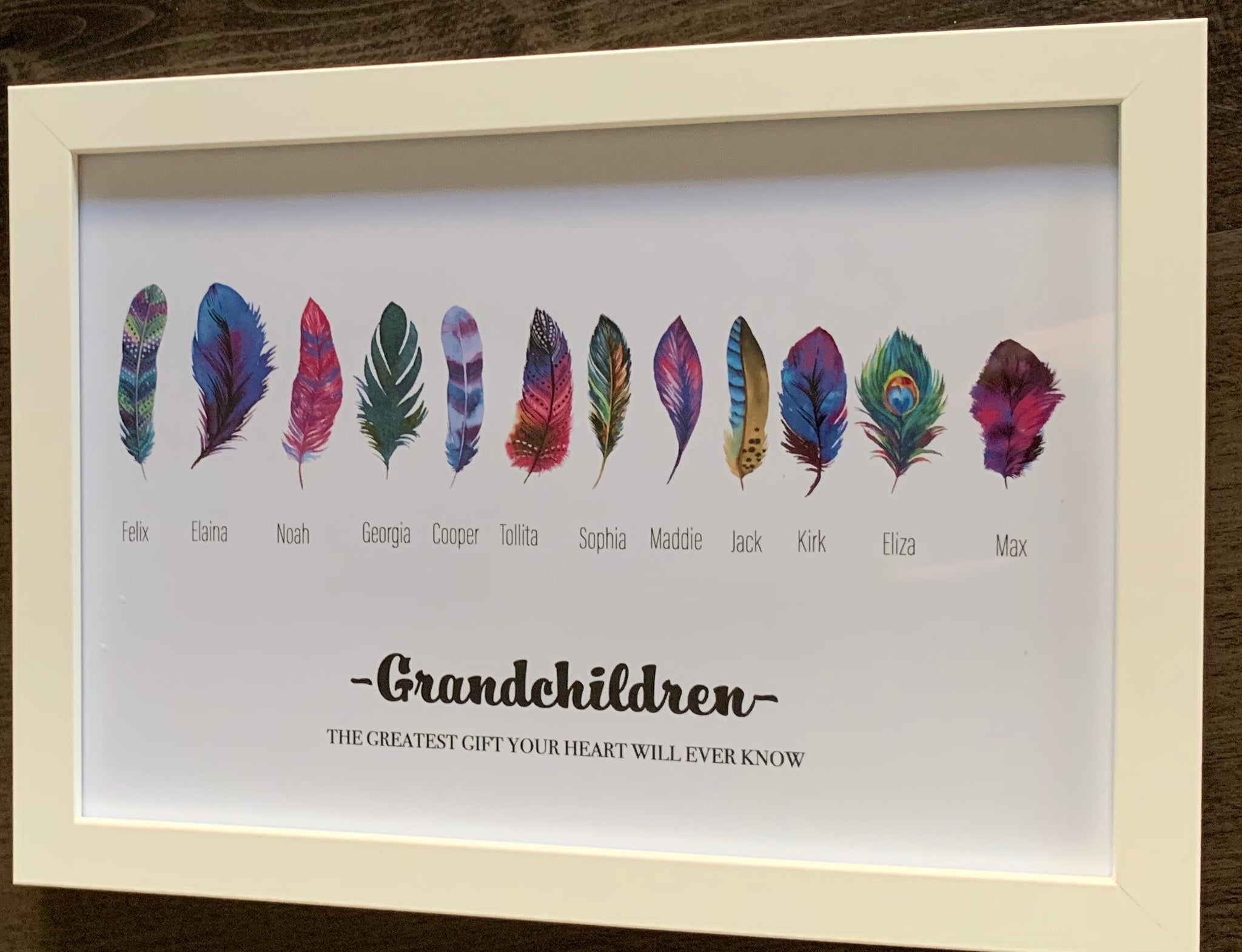 Customised Family Feather Print