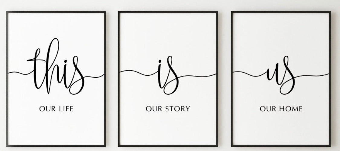 This is us 3 set of prints A3