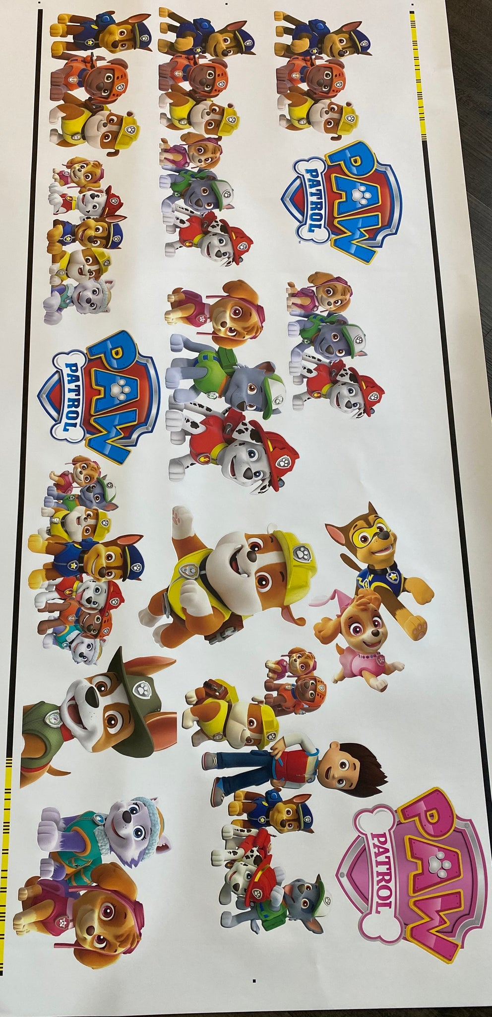 Paw patrol Removable reposition-able wall decal Pack
