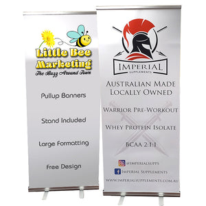 Pullup banner and stand Townsville