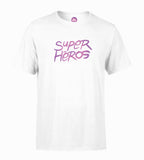 T-shirt Super Héros Blanc  - Couleurs