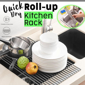 Quick Dry Roll-up Kitchen Rack