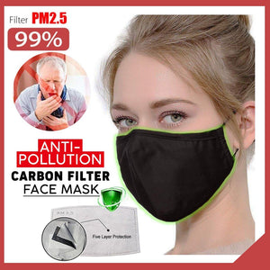 Anti-Pollution Carbon Filter Face Mask