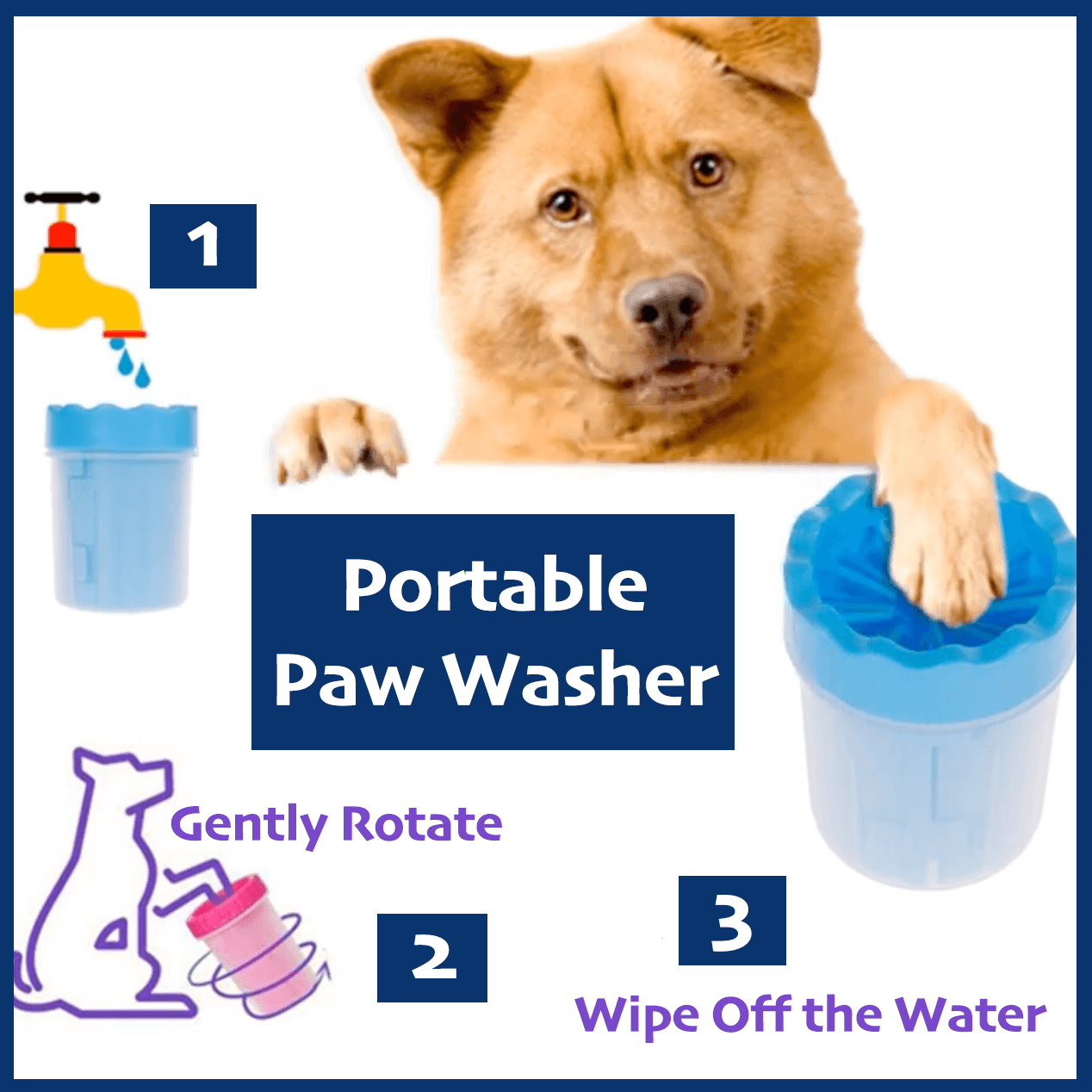 Portable Paw Washer