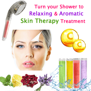 Vitamin C Enriched Aromatic Therapy 3 in 1 Shower Filter