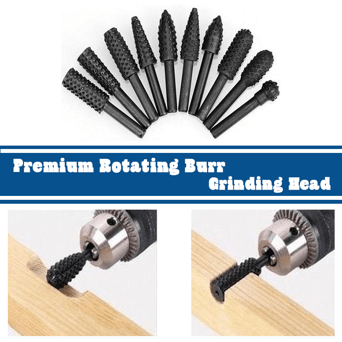 Premium Rotating Burr Grinding Head