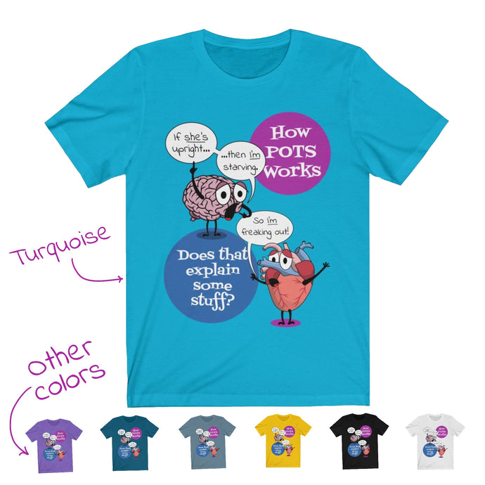 How POTS Works T-Shirt, female pronoun (