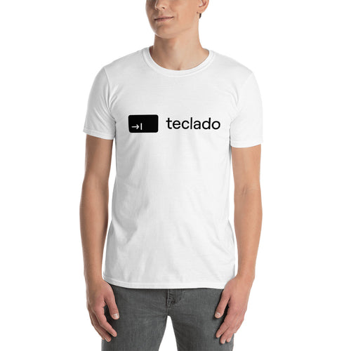 The Teclado Tee (black on white)