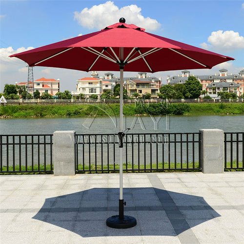 2.7 meter aluminum outdoor beach sun umbrella patio parasol sunshade garden furniture cover (no base)