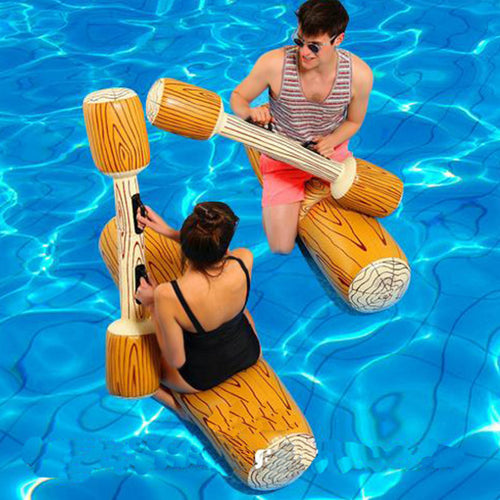 Water Entertainment Game Toy Inflatable Float Raft Chair Stick Swimming Games Kit JT-Drop Ship