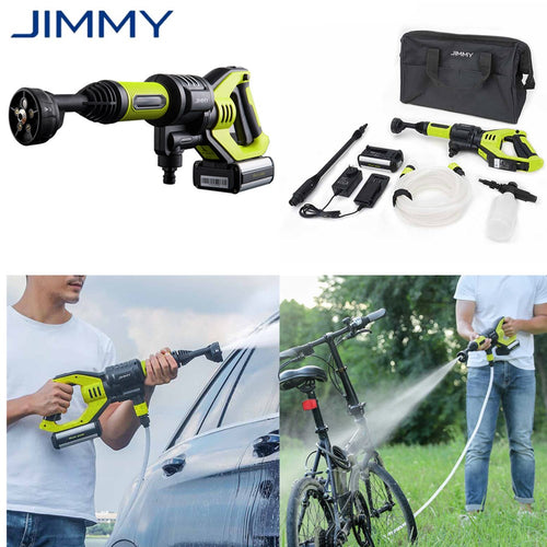 JIMMY Handheld Car Washer 2.2Mpa Wireless Washing Gun For Home Garden Bike Cleaning 21V 1A Fast Charge EU Plug