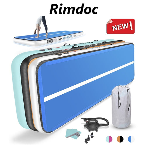 Rimdoc 12 Hours Shipping 3/4/5/6M Inflatable Airtrack Gymnastics Mat for Yoga Tumbling Mat Gymnastics Airtrack Gym Mat Home Gym