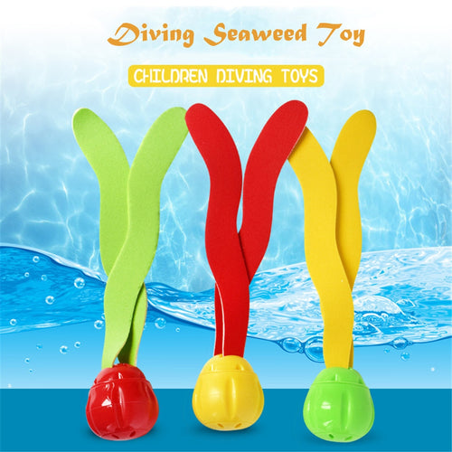 3Pcs Diving Underwater Swimming Colorful Pool Sink Training Diving Seaweed Toy S   Dece 25th