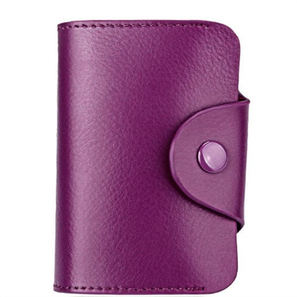 Genuine Leather Business Card Holder Wallet Bank Credit Case Id Holders Purse