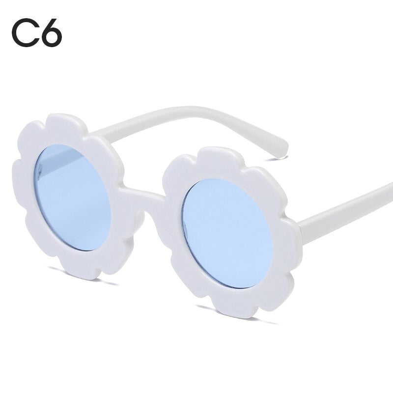 Kids Toddler Sunglasses Retro Style Plastic Frames Dark Lenses For Boys Girls