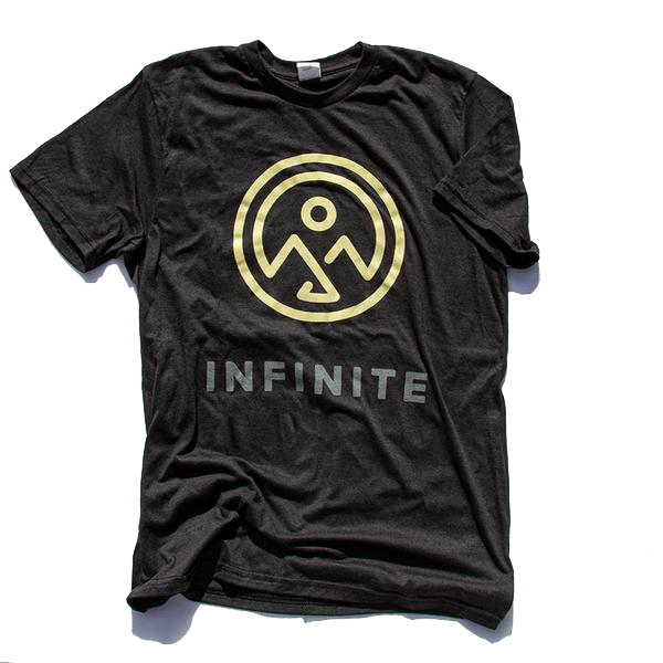 Infinite Black Logo Tee