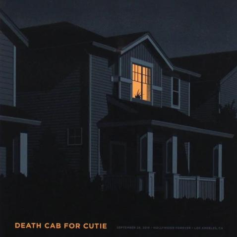 Death Cab for Cutie by Simon Marchner (Framed)