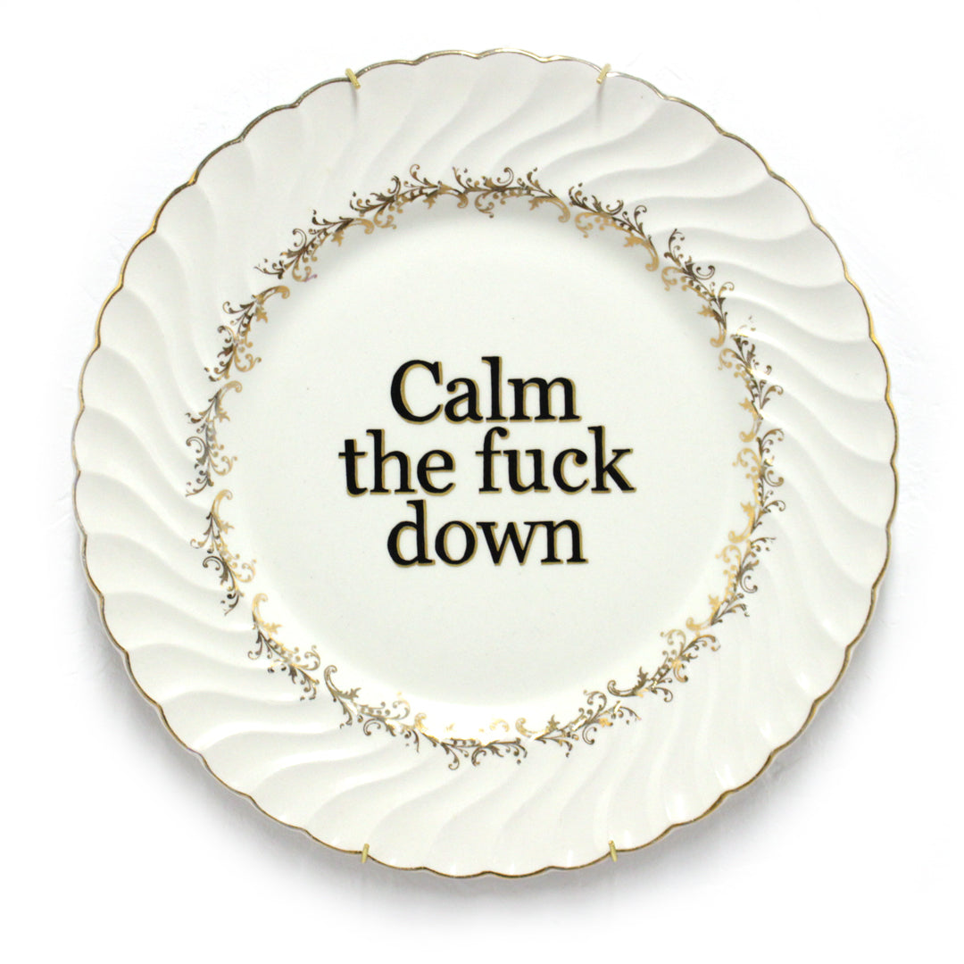 Calm the Fuck Down - Plate